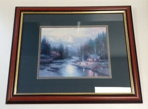 Thomas Kinkade Framed Print The End Of A Perfect Day II A Quiet Evening At River