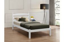 Oslo White Wood Bed Frame 4ft6 135cm Double Bedstead