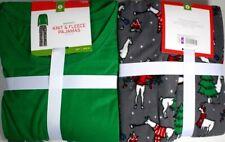 L, Xl 2Pc Christmas Women Pajama Sets Knit & Fleece Green Deer Tree 60%Off