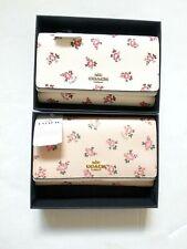 NWT NIB Coach Floral Bloom Boxed Mini Phone Crossbody Wallet Clutch 28328