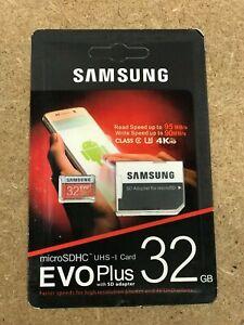 CARTE MICRO SD SAMSUNG 64/128/256GO CLASSE 10 EVO Plus MicroSDXCavec SD Adapteur