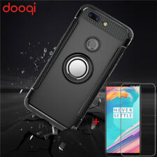 For OnePlus 5T Luxury Ultra Slim Ring Holder Shockproof Rugged Armor Case Cover