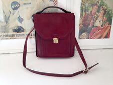 Sacoche, sac bandoulière, sac en cuir, pour homme. Vintage année 70 '