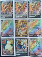 100 Card Lot NO DOUBLES Pokemon Sword and Shield Pokemon V Included