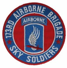 173rd Airborne Sky Soldiers 3 Inch Round Cap Hat Embroidered Patch F1D21H