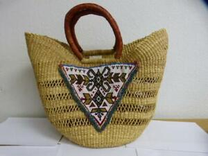 (FREE PEOPLE TRICIA FIX SANDY SHORES EMBELLISHED TOTE BAG(AS IS)