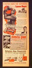 1950 Leon Hart Notre Dane~Detroit Lions Oddball Sports Gillette Razor Promo AD