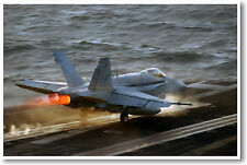 F/A 18E Super Hornet Jet Fighter Military FA18 - POSTER