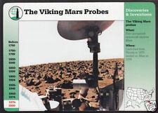 THE VIKING MARS PROBE NASA Photo Rover Surface GROLIER STORY OF AMERICA CARD