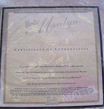 MATTEL MARILYN MONROE BARBIE DOLL CERTIFICATE OF AUTHENTICITY COA ONLY