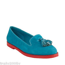 NEW STEVE MADDEN TEAL JILLTED LOAFERS SHOES SZ 7
