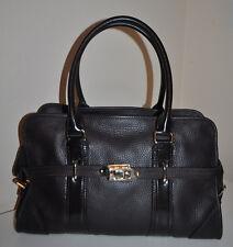 $1595 BURBERRY London  Dark Brown Grainy Leather Tote Shoulder Bag Handbag ITALY