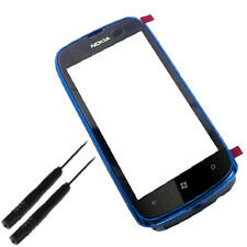 Touch Screen Digitizer Lens with BLUE Frame for Nokia Lumia 610