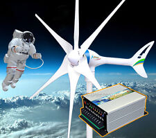 Apollo MAX 800 W 24V AC Magnet Wind Turbine Generator 6 Blade +Hybrid Controller