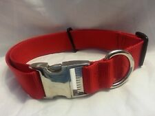 Strong Fully Adjustable Dog Collar Metal Hardware 1 Webbing USA Made