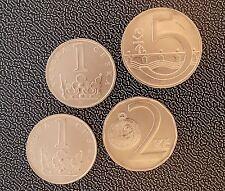 1993 CZECH REPUBLIC 1 2 5 Koruna - 4 Coin Set UNC