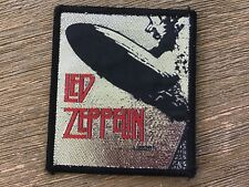 Led Zeppelin Vintage Original Woven Airship Patch Folk Blues Heavy Metal Used