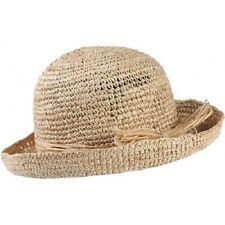 Trekmates Women's Raffia Straw Packable Travel Sun Hat - One Size
