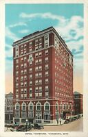 Vicksburg Mississippi~Hotel Vicksburg~Rooms $1.50 Up~Vintage 1920s Cars~Postcard