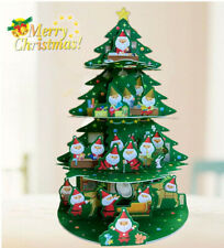 3D Pop Up Christmas Card Tree With Santa Helpers Decoration Holiday Greetings