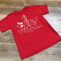 Walt Disney World Red T-Shirt Adult Size Small