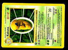"POKEMON BASE English SHADOWLESS CARD 1ed N°  33/102 KAKUNA ERROR ""Length Length"""