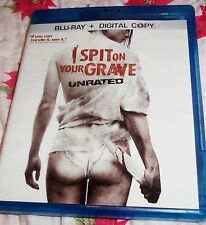 I SPIT ON YOUR GRAVE BLU RAY 2 disc set unrated blu-ray digital copy insert