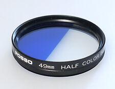 (PRL) FILTRO POSSO 49 mm HALF COLOR BLUE FILTER FILTRE FILTRU PHOTO CAMERA