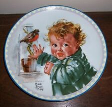 Little Red Robins by Maud Tousey Fangel Collector Plate #5021A - Knowles (#5)