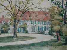 ERNEST CRAMER SIGNED ORIGINAL WATERCOLOR PAINTING OF HOUSE