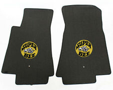 NEW! BLACK FLOOR MATS 1971 Dodge Charger Super Bee Embroidered Logo LOOK