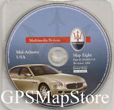 2004-2008 Maserati Quattroporte Navigation CD #8 Cover DE VA Partial MD PA NJ NC
