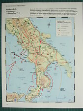 WW2 WWII MAP ~ SOUTHERN ITALY 3 SEPT-15 DEC 1943 ITALIAN FLEET GERMAN RETREAT