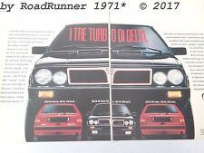 3 LANCIA DELTA integrale HF Turbo_pubblicità originale del 1987_advertisement