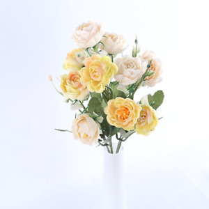 10Head Vivid small peony artificial silk flowers bouquet home room wedding decor