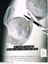 PUBLICITE ADVERTISING 065  1995  DEPISTAGE  CANCER DU SEIN