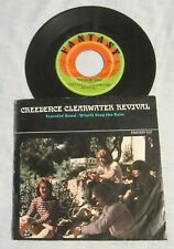 CREEDENCE CLEARWATER REVIVAL 45 & Picture Sleeve: TRAVELIN' BAND + Stop the Rain