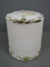 ANTIQUE OPAQUE WMG MILK GLASS SCROLL PATTERN CUFF BOX #15 DITHRIDGE CIRCA 1900