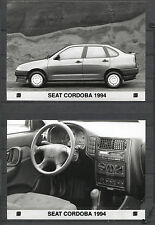 PRESS - FOTO/PHOTO/PICTURE - Seat Cordoba Set of 3 Photos 1994