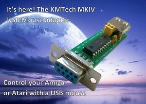 KMTech MKIV Amiga/Atari USB mouse adapter converter with mode switch jumpers