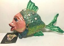 RETIRED December Diamonds HOT LIPS Fish Hanging Christmas Ornament Hard-to-Find