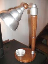 Lampe de bureau ancienne industriellle en bois et aluminium