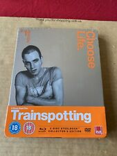 Trainspotting (1996) UK Blu Ray Steelbook Collectors Edition NEW & SEALED - Rare