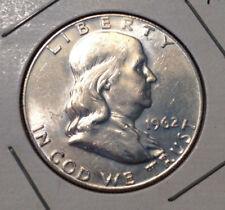 1962-D 50C Franklin Half Dollar Full Bell Lines