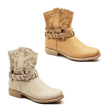 WOMENS LADIES CASUAL CHELSEA BLOCK HEEL ANKLE BOOTS BOOTEIS SHOES SIZE 3-8
