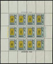 Argentina 1960. Cinderella. EFIMAYO. Exhibition  Full sheet of 12 MNH