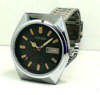 citizen automatic men's steel japan made wrist watch movement 8200