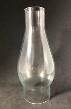 Vtg Clear Glass Kerosene/Oil Lamp Chimney Globe 7 3/4� Tall 2 3/4� Fitter (Ws)