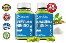 Ashwagandha Gummies 1500MG Vegan Support Calm Mood Relaxation Sleep Aid 2 Pack
