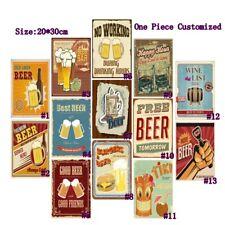 Cold Beer Bar Retro Metal Tin Signs Vintage Plate Pub Bar Art Wall Decor Poster